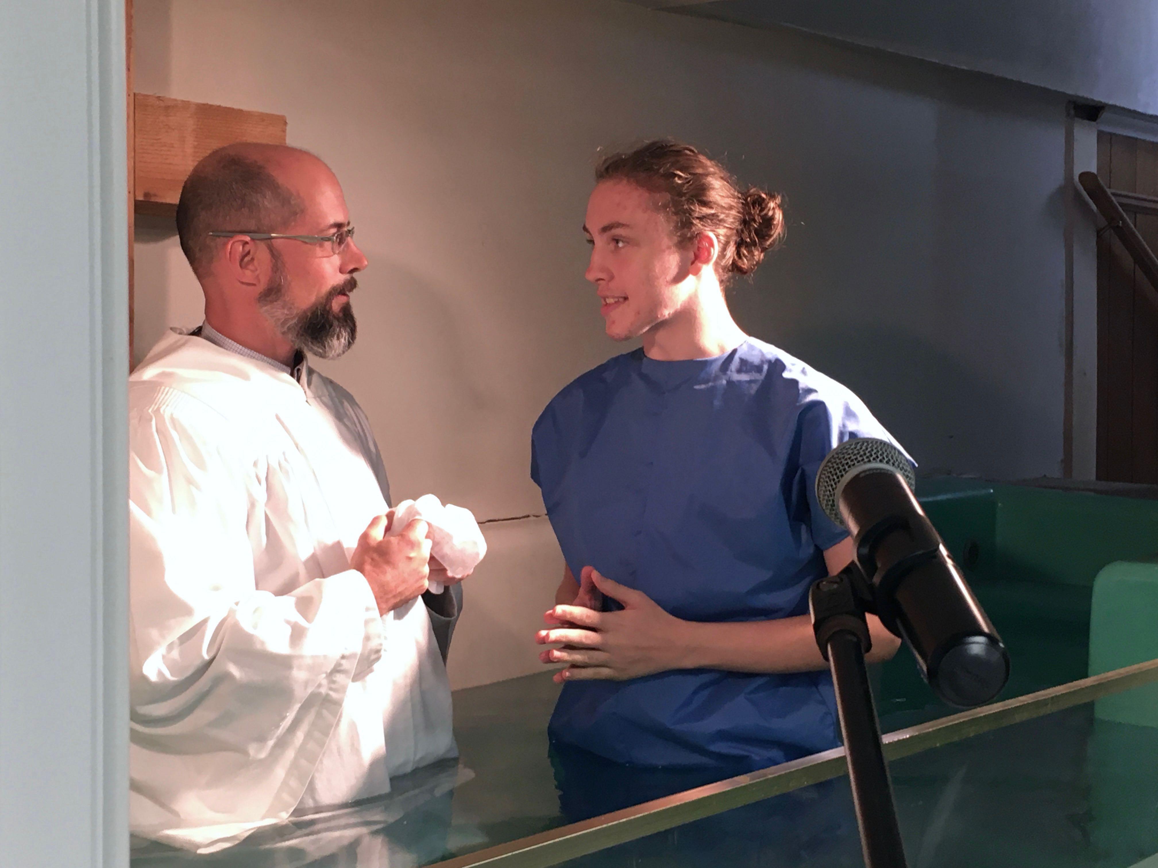 Jeff Lashua's Baptism